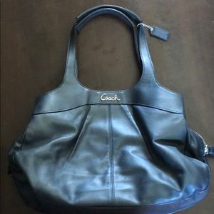 Lightly used leather coach purse